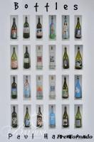 DAMAGED- (2) Paul Harmon Signed Posters - Bottles - Image of 24 Handpainted Wine Bottles and Boxes - Image of 32 Handpainted Boxes, 2004