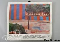 DAMAGED- (2) Paul Harmon Signed Posters: Bienal de Arte Medellin, 1981 and  Cavaliero Fine Arts NYC, 1978
