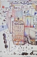 (2) Saul Steinberg Posters: The New Yorker Cover 1976, Serpentine Gallery 1979 and Ivan Chermaneff Poster, Art Expo New York 1979
