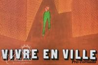DAMAGED- (2) Jean-Michel Folon Posters:  Rufus For the French Film by that Title and Vivre en Ville