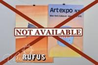 (2) Jean-Michel Folon Posters: Art Expo NY, 1979 and Rufus Poster for the French Film by that Title
