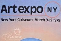 (2)Jean-Michel Folon Posters: Art Expo NY 1979 and Spoleto Festival 1977