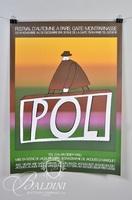 (2) Jean-Michel Folon Posters:  Festival D'Automme a Paris Garte - Montparnasse, 1974 and Avignon 73 Palais de Papes