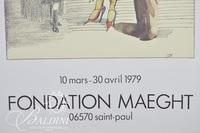 (2) Saul Steinberg Posters: Foundation Maeght, 1979 and 1974 Image Entitled Dessins, Galerie Maeght, 1981
