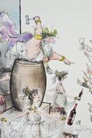 Set of (10) Ronald Searle Posters of Different Images Relating to Wine Madness, Clos der Val