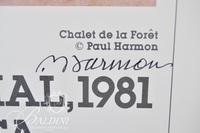 (2) Paul Harmon Signed Posters: Bienal de Arte Medellin, 1981 and Galerie Deprez-Bellorget, Paris, 1996