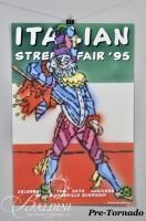 DAMAGED- Paul Harmon Intalian Street Fair Poster, 1995 Artist Signed and Cliff Johnston Nashville Historic Buildings
