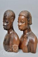 (3) Tribal Wood Carved Figures