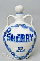 "Hadley Sherry Decanter, Hand Painted Pitcher, Tile and ""Fines Herbes"" Pot"