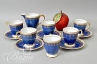 """Spode """"Ryde"""" Blue Demitasse Tea Set"""