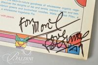 """The Peter Max New Age Organic Vegetarian Cookbook"" by Peter Max, Signed"