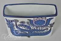 (2) Vintage Royal Copenhagen Vase and Trinket Box by Berte Jessen
