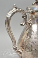 Early 1900's James Deakon & Sons Silver Plated Tea Pot with Acorn Finial