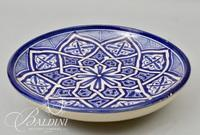 Hand Painted Blue and White Pottery Bowl