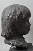 Bronze Gallery Reproduction Renoir Bust of His Son Coco on Swivel Base