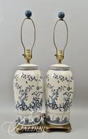 Pair of Hand Painted Asian Lamps