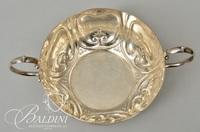 (3) Black, Starr & Frost Sterling Card Tray, Silver on Copper Sheffield Dish and 2-Handled Gorham Silver Plated Bowl