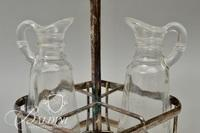 Partial Cruet Set, Crystal Bowl and (2) Ladles - One is Marked Sterling