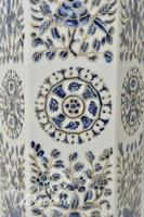 Asian Porcelain Lamp with Floral Motif and Medallion