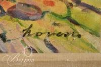 """Dezso Kovesi """"Les Bois De Boulogne"""" Oil on Canvas Painting, Signed - Some Damage"""
