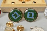 Christian Dior and Other Assorted Vintage Cufflinks and Tie Tacks