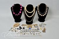 Assorted Costume Necklaces, Pendants and Various Parts