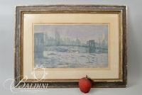"""George Speck Artist Proof """"Rain Over Manhattan"""" Framed Lithograph Signed and Numbered 10/20"""