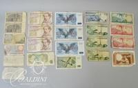 Assorted Foreign Bank Notes and Coins Including Portugal, England, Spain and Germany