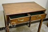 Two-Drawer Felt Lined Silver Table - Heavy Damage