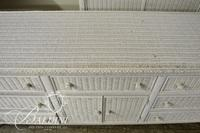 Henry Link White Wicker Dresser - Some Damage