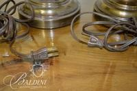 Pair Brass Lamps