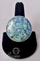 """Charles Albert"" Sterling Silver Turquoise Ring"