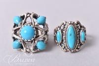 (2) Artisan Turquoise Rings - Both Stamped 925
