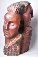 "Rare Hand Carved Wood Sculpture ""Icarus"" Attributed to Puryear Mims (1906-1975)"