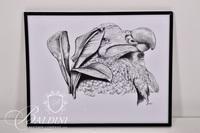 (3) Pencil Drawings, 1 Photograph