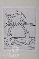 """Edward Hagedorn (American 1902-1982) """"Man of the Hour"""" Etching and Concept Drawing, Pencil Signed Lower Right, Titled Lower Left"""