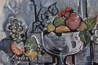 """Barbara Williams """"Textured Fruit"""" Framed Watercolor, Signed"""