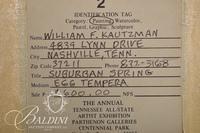 "William F. Kautzman ""Suburban Spring"" Egg Tempera on Board, Signed Lower Left"