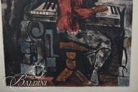 """Marcl Gramaire """"Girl at the Piano"""" Print, Pencil Signed"""
