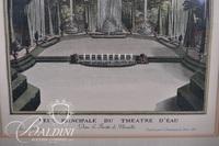 """Engraving """"Veue Pricipale Du Theatre D'Eau"""""""