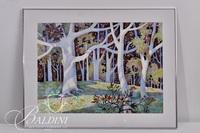 """John Richardson """"Autumn Frost"""" Watercolor Painting, Signed"""