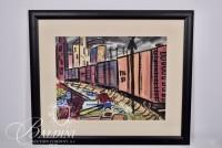 """Walter Knestrick """"Untitled"""" Watercolor, Signed"""