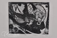 """Nahum Tschacbasov (Russian 1899 - 1984) """"Birth"""" Etching 17/100"""
