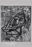 """Nahum Tschacbasov (Russian 1899 - 1984) """"The Inner Sanctum"""" Etching Pencil Signed and Numbered 17/100"""