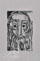 """Nahum Tschacbasov (Russian 1899 - 1984) """"The Patriarch"""" Etching Pencil Signed and Numbered 17/100"""