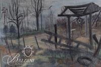 """Robert Vantrease """"Old Well"""" Pastel, Signed"""