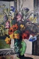 """Louise Lehman """"Of Sunshine and Flowers"""" Original Oil on Canvas, Signed Upper Left"""