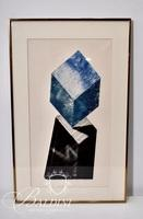"David Bigelow ""Water Cubed"" Etching 2/4 1st State, Pencil Signed"
