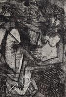 """Nahum Tschacbasov (Russian 1899 - 1984) """"Horse and Rider"""" Etchings, Signed and Numbered 17/100"""