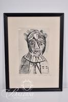 "Nahum Tschacbasov (Russian 1899 - 1984) ""Portrait of a Woman"", Etching, Signed and Numbered 17/100"
